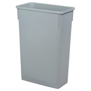 Grey slim recycling bin 87 litre