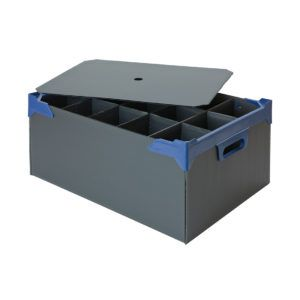 Glassware storage boxes holds 15 with lid